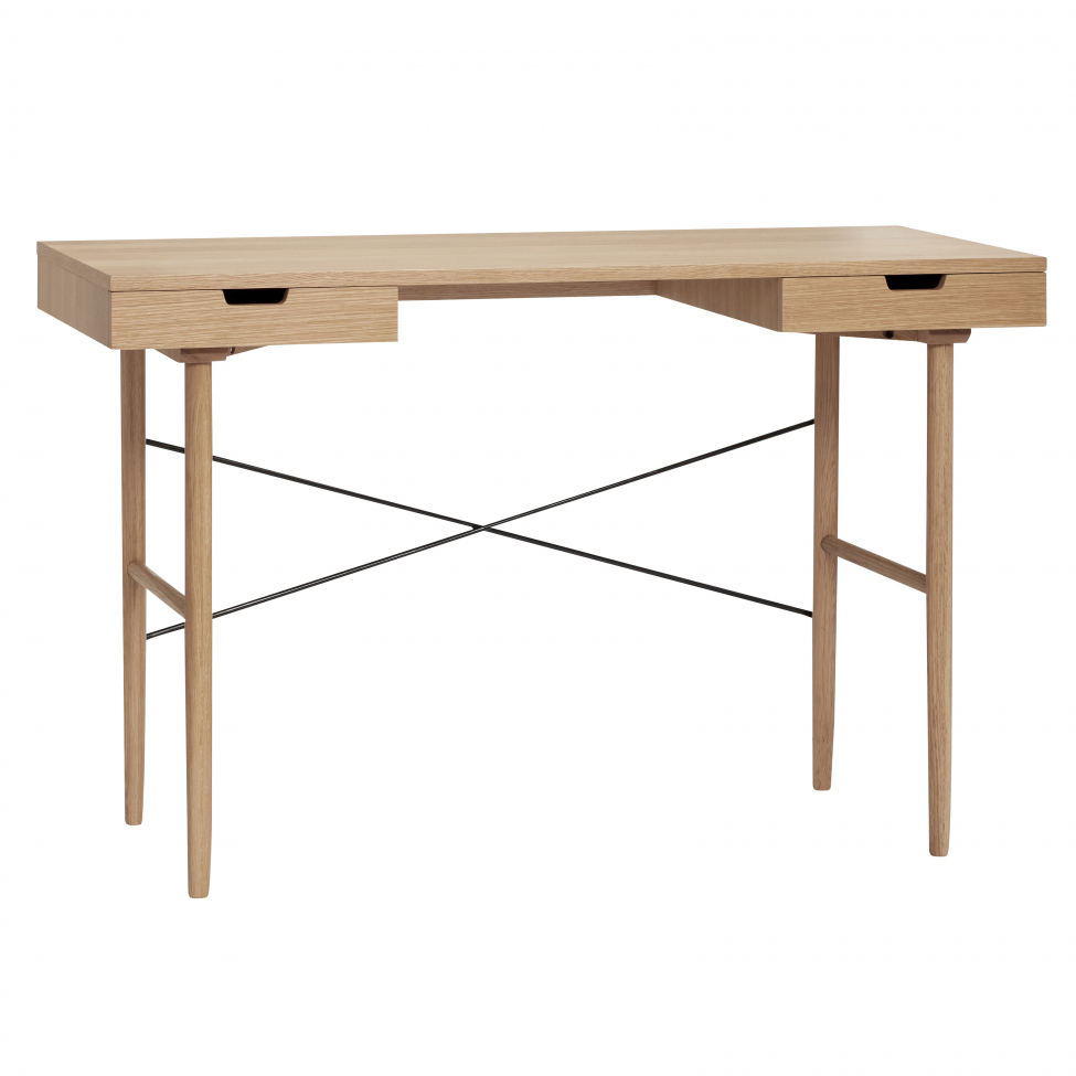 Skrivebord med skuffer Eik Natural      